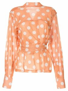 Bambah polka dot wrap blouse - Orange