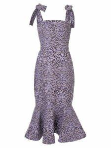 Bambah Leopard mermaid dress - Pink