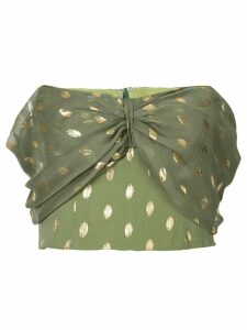Bambah polka dot cropped shirt - Green