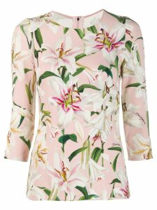 Dolce & Gabbana Cady lily print top - PINK