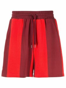Ports V striped drawstring shorts - Red