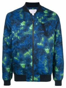 Ports V dye detail bomber jacket - Blue