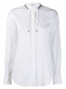 Brunello Cucinelli drawstring long-sleeve shirt - White