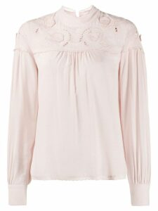 See By Chloé cut out blouse - NEUTRALS