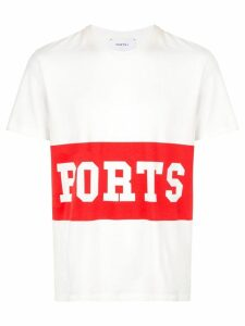Ports V logo stripe T-shirt - White