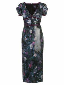 Marchesa Notte embellished midi dress - Black