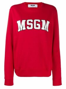 MSGM logo sweatshirt - Red