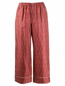 Fendi Grille Royal print trousers - Red