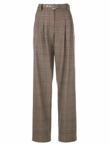 Proenza Schouler Exaggerated Plaid Suiting Pants - Brown