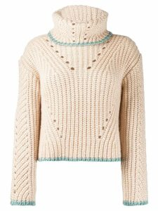 Fendi chunky knit sweater - NEUTRALS
