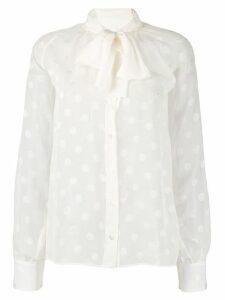 Dolce & Gabbana polka dots blouse - White