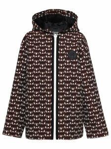 Miu Miu all-over logo jacket - NEUTRALS