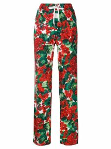 Dolce & Gabbana floral print track trousers - Red