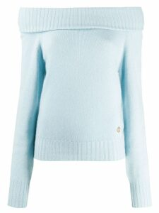 Emilio Pucci off-the-shoulder sweater - Blue