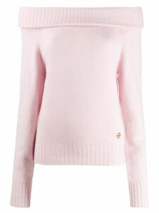 Emilio Pucci off-the-shoulder sweater - PINK