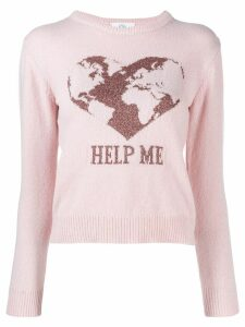Alberta Ferretti intarsia-knit jumper - Pink