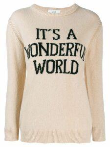 Alberta Ferretti intarsia-knit jumper - NEUTRALS