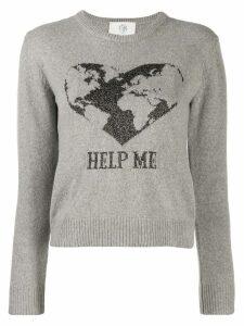 Alberta Ferretti intarsia-knit jumper - Grey