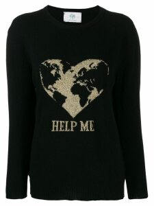 Alberta Ferretti embroidered fitted sweater - Black