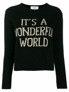 Alberta Ferretti It's A Wonderful World sweater - Black