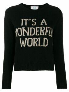 Alberta Ferretti It's A Wonderful World sweater - Black