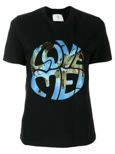 Alberta Ferretti Love Me! printed T-shirt - Black