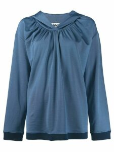 Mm6 Maison Margiela ruched hoodie - Blue