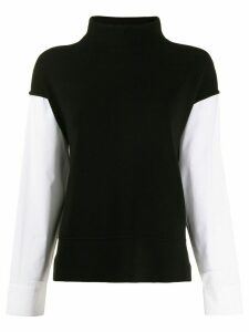 Piazza Sempione contrast knit jumper - Black