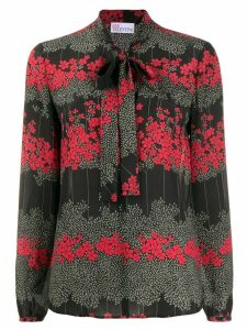 Red Valentino RED(V) floral pussy-bow blouse - Black