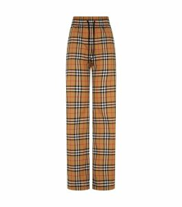 Vintage Check Wide Leg Trousers