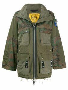 Diesel panelled field jacket - Green