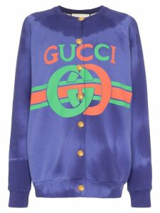 Gucci GG logo cardigan - Blue
