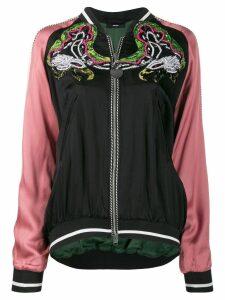 Diesel embellished bomber jacket in satin - Black