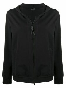 Brunello Cucinelli classic zipped hoodie - Black