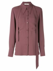 Tibi Lightweight triacetate blouse with removable tie - Purple
