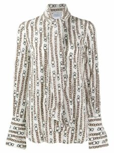 Salvatore Ferragamo chain print shirt - NEUTRALS