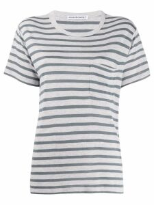 T By Alexander Wang striped pattern T-shirt - Grey
