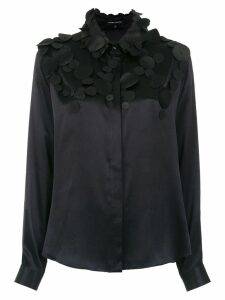Gloria Coelho sequinned top - Black