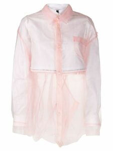 Facetasm layered button shirt - PINK