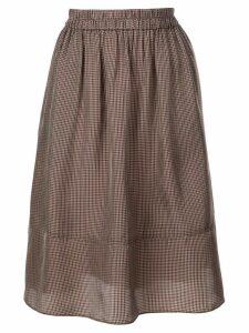 Tibi Walden checked skirt - Brown