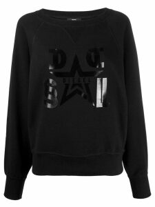 Diesel star logo sweatshirt - Black