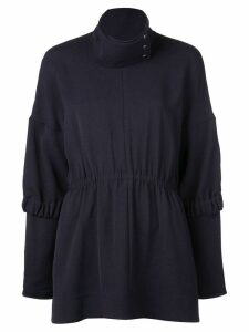 Tibi Esme Crepe tunic top - Black