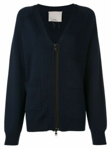 Tibi Compact wool blend cardigan - Blue