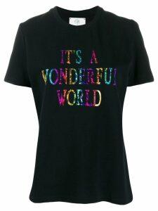 Alberta Ferretti slogan printed T-shirt - Black