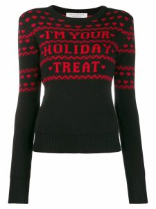 Philosophy Di Lorenzo Serafini Christmas printed jumper - Black