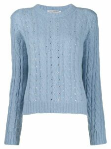 Philosophy Di Lorenzo Serafini embellished knit jumper - Blue