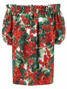 Dolce & Gabbana off the shoulder blouse - Red