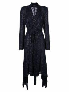 Cushnie wrap-style jacket - Blue