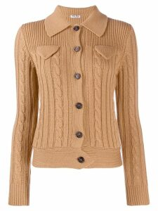 Miu Miu cable knit cardigan - Neutrals