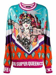 Dolce & Gabbana Super Queen print sweatshirt - White